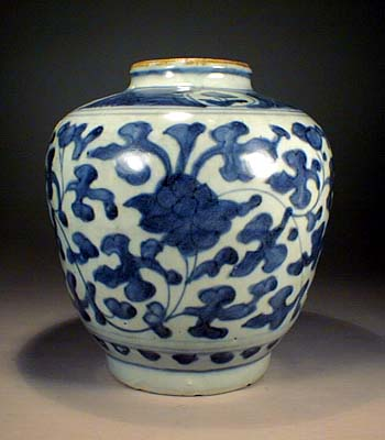 Blue & White Jar, 16th C. Ming Dynasty