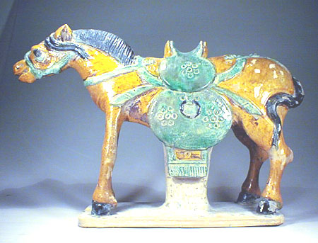 A Ming San-Cai Pottery Horse