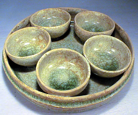 YUEYAO Cup & Dish set,Southern & Northern Dynasty