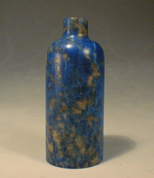 Unusual Blue Lapis Snuff Bottle,19th Century