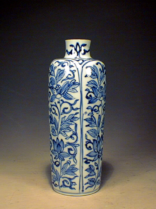 Blue & White Snuff bottle, Early Qing Dynasty