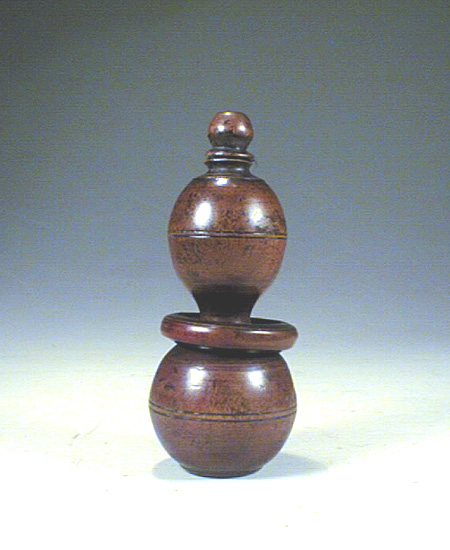 Box wood snuff bottle, Qing Dynasty