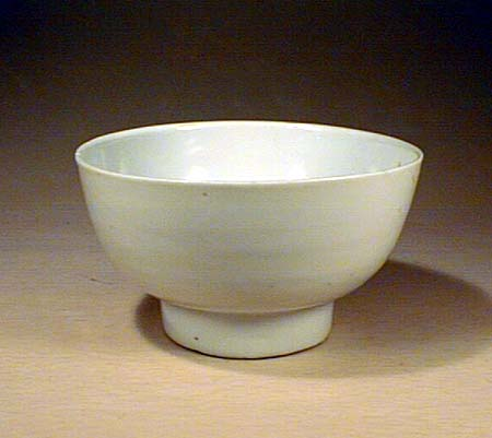 White Glazed Small Bowl, Ming Dynasty