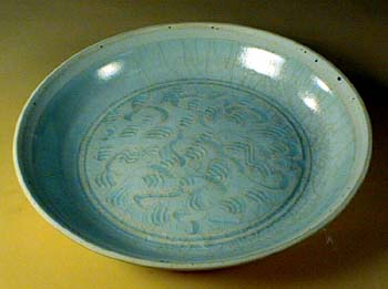 Carved Yingqing Dish, Song Dynasty