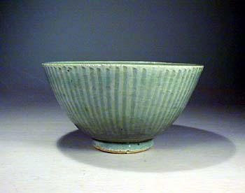 Carved Celadon Bowl, Ming Dynasty